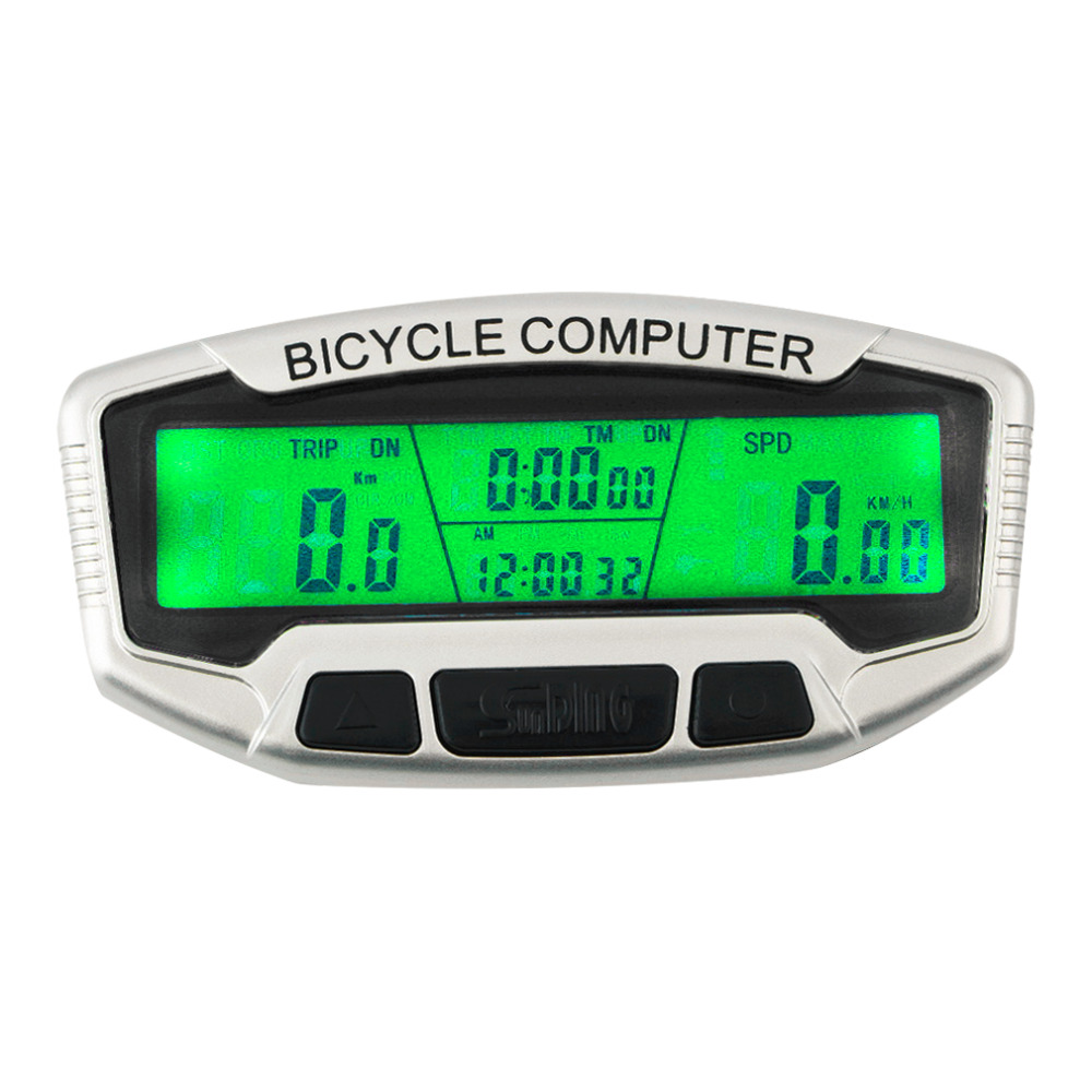 Digital LCD Backlight Bicycle Computer Odometer Bike Speedometer Stopwatch