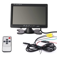 Hot 7 Inch Desktop LCD Security Reverse Rearview Parking VCR DVD Player Rear View Camera Car