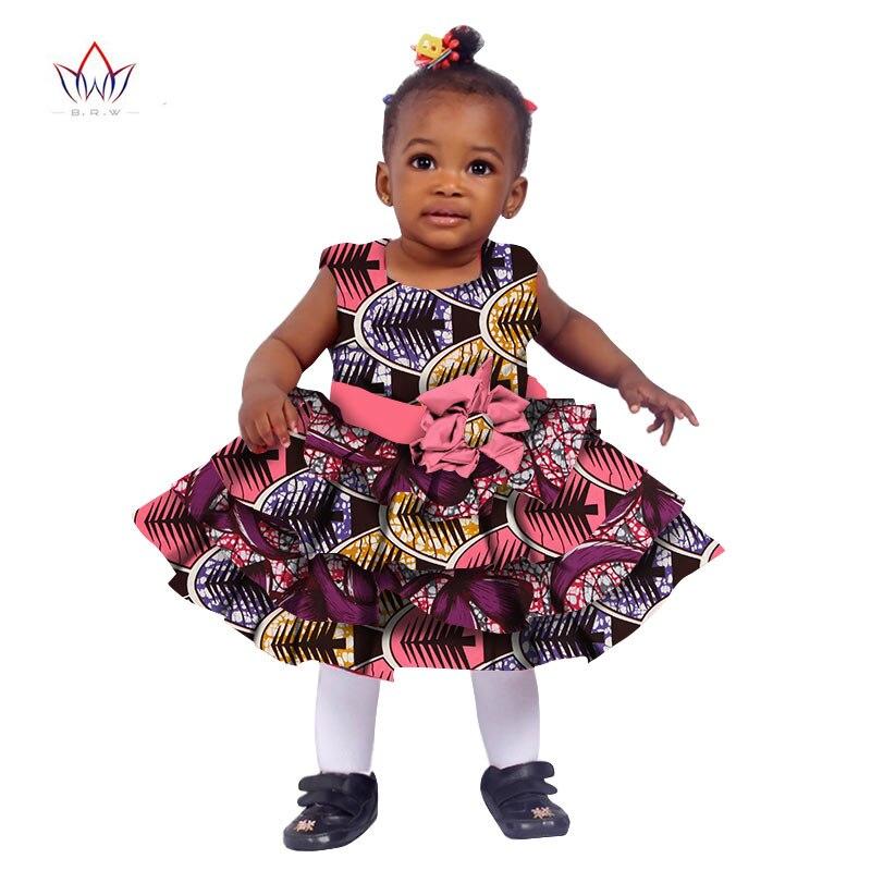 2017 African Women Clothing Kids Dashiki Traditional Cotton Dresses