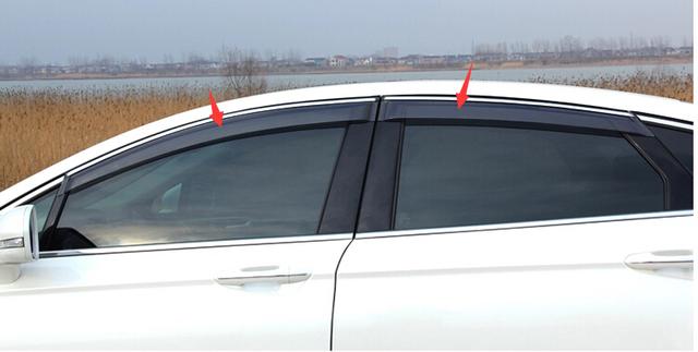Más de moda! para Ford Fusion/Mondeo 2013 2014 Ventana Toldos Viseras Deflector de Viento Lluvia Visera Guardia Vent