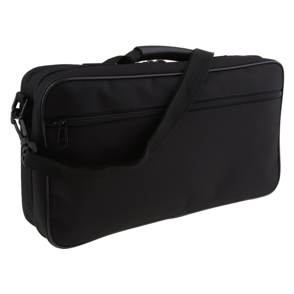 Exquisite Black Oboe Carry Bag & Box Container For Oboe Instrument Parts