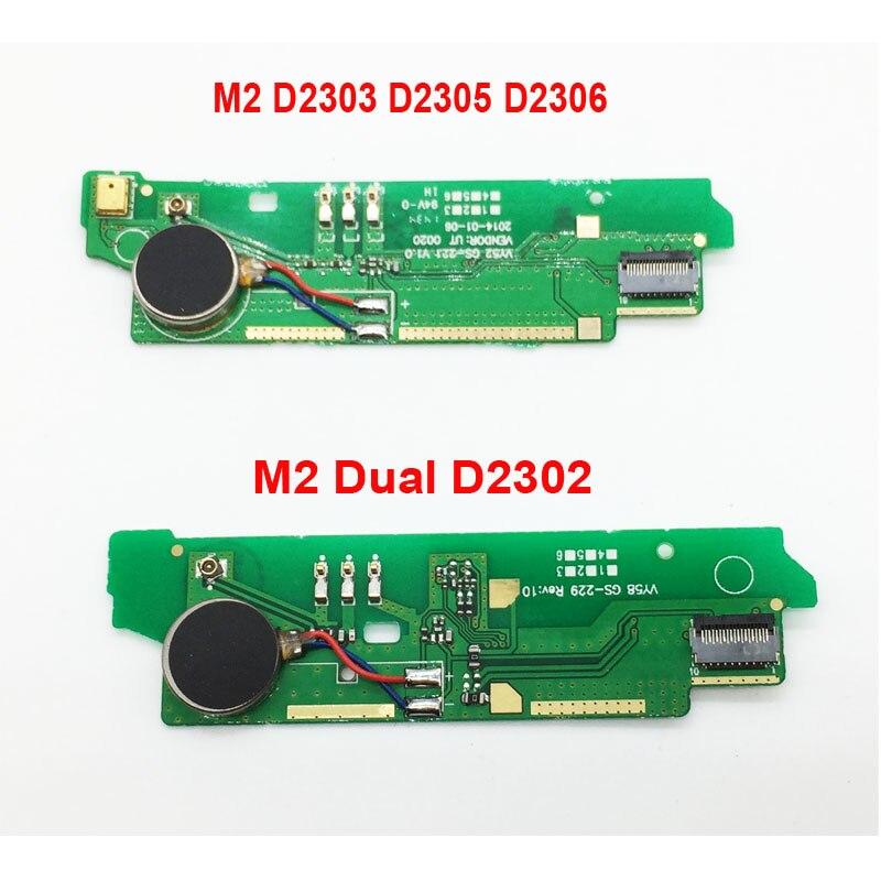 Новый оригинальный микрофон Микрофон Совета двигателя с Вибратор Flex кабель для sony Xperia M2 D2303 D2305 D2306/M2 двойной d2302