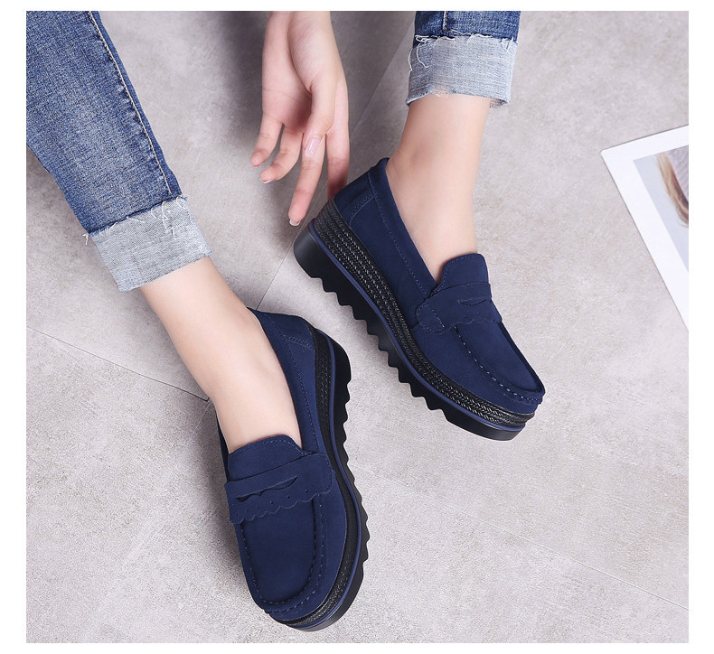 HX 8775-Spring Autumn Genuine Leather Women Shoes-13