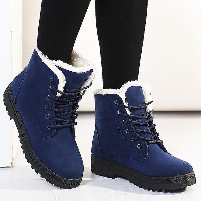 e6fba2af2306 Лидер продаж зимние ботинки женская обувь модные зимние сапоги на шнуровке  ботильоны Женские