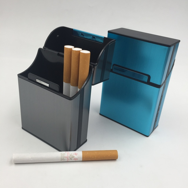 Aluminum Light Cigar Cigarette Case Pocket Box Storage Container