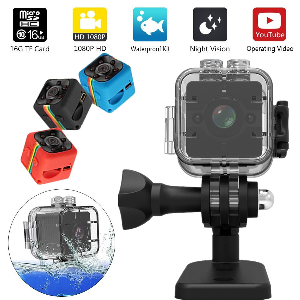 SQ12 HD mini caméra micro caméra Étanche MINI Caméscope petit caméra DVR Mini vidéo caméra Sport Caméscopes SQ11 mini cam