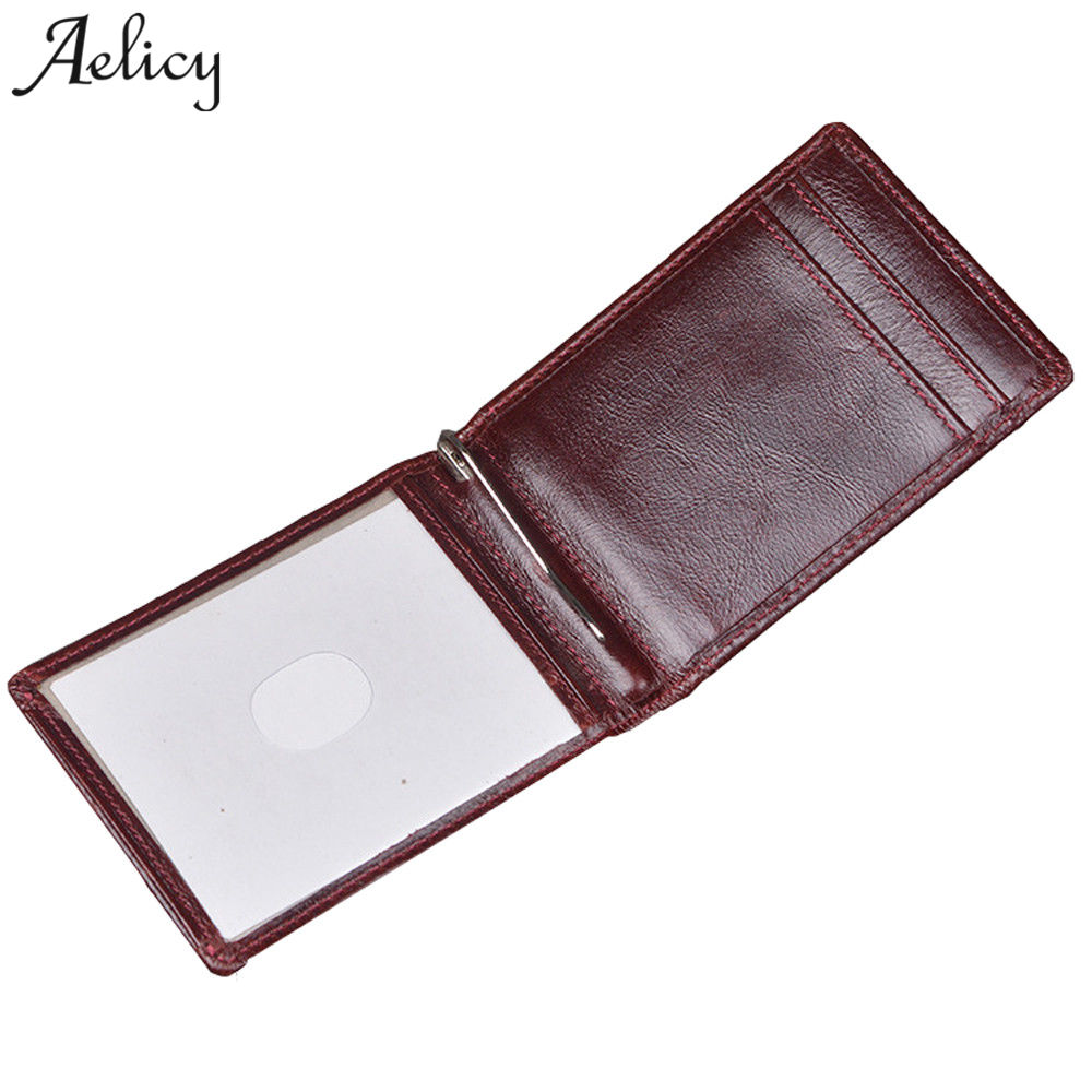 Aelicy PU leather men wallets with holders 2018 new design short wallet men leather wallets male purse money credit HOT Sale