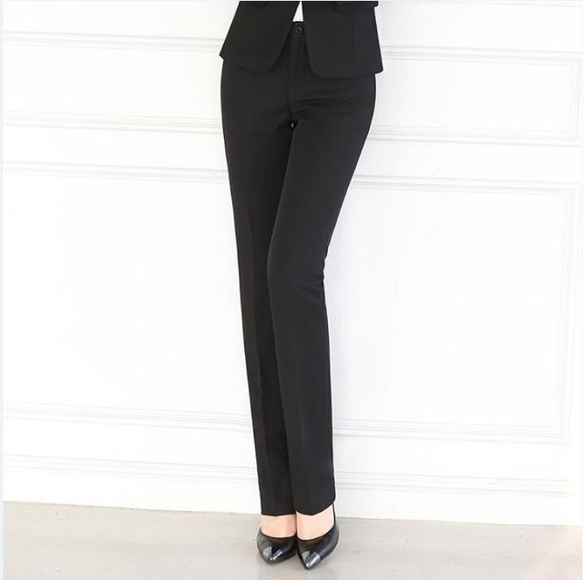 8a0bed21fd7a9a Hot sale 2017 New style Women OL high Waist Overalls formal Work Pants  western-style