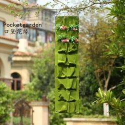 Green grow bag wall hanging planter vertical garden vegetable living garden bag storage bag 16 pockets.jpg 250x250