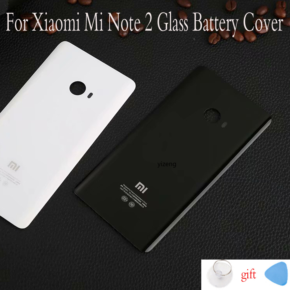 New Housing For Xiaomi Mi Note 2 Battery Cover Replacement Parts Back Cover For Xiaomi Mi Note2 MiNote2 Adhensive Sticker
