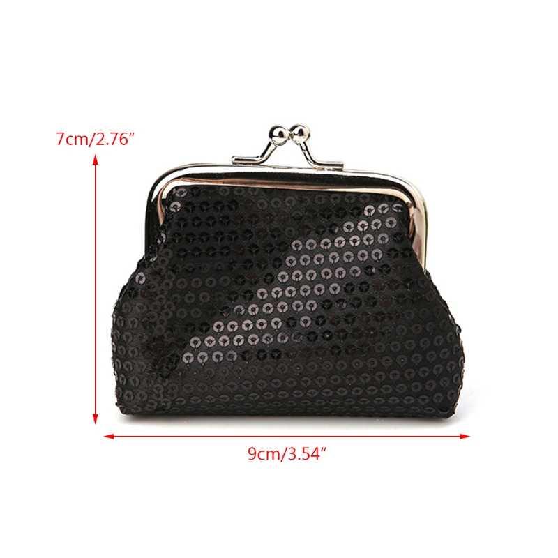 ... THINKTHENDO Polyester Glittering Girl Handbag Lady Coin Purse Wallet  Key Bag Zipper Pouch Holder New Fashion ... 00ca43baaa47