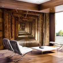 beibehang Custom Wallpaper House Decorative Mural 3d Wood Tree Extension Space TV Sofa Room Background Wall wallpaper