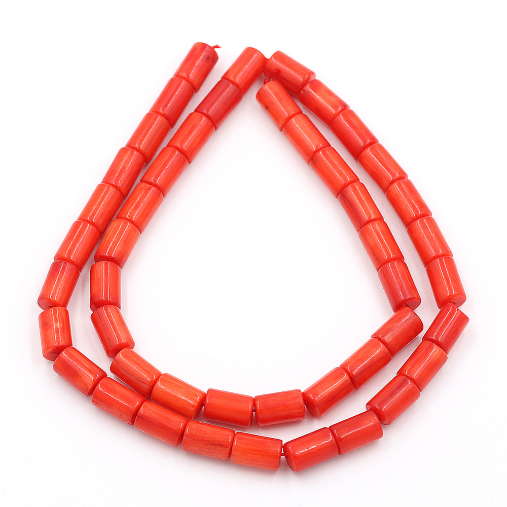 10pcs/lot Cylindrical Natural Stone Beads for Jewelry