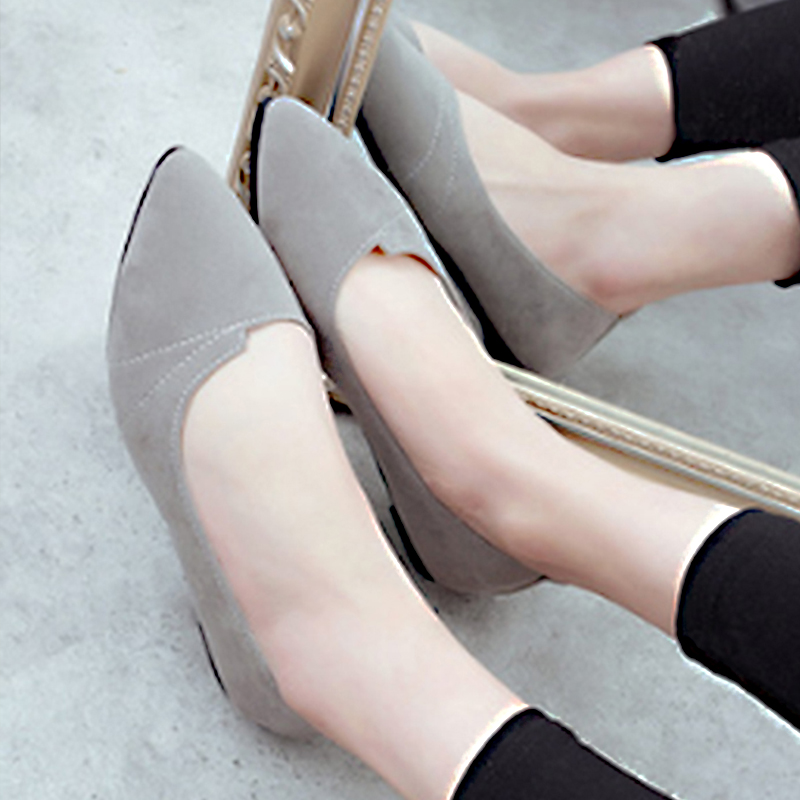 Women Shoes Flock Ballet Flats Female Spring Shoes For Work Cloth Flats Sweet Loafers Slip On Women's Pregnant Flat Shoes 911589  women shoes women ballet flats shoes for work flats sweet loafers slip on women s pregnant flat shoes oversize boat shoes d35m25