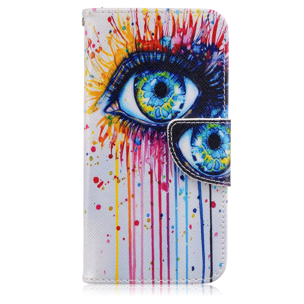 For Samsung Galaxy S7 Case National Style Folio Flower Painting Animal Wallet Stand Bag Flip Leather Cover For Galaxy S7 Cases