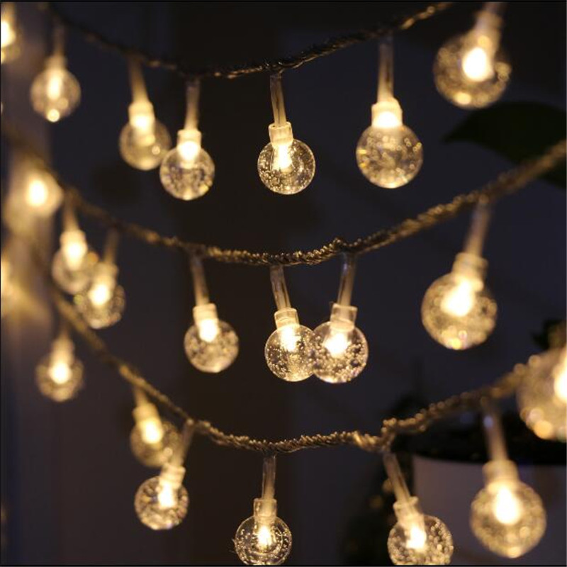7,5 mt 50 girlande Led globe birne led string lichter im freien wasserdichte led Kristall ball string garland partei hochzeit Hinterhof terrasse