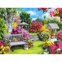 Full Round Diamond Painting Landscape garden 5d Diamond Painting Flower Square Rhinestones Embroidery Cross-stitch Home Decor