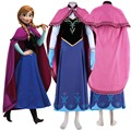 Princesa anna dress anna traje adulto cosplay traje de halloween para las mujeres fancy dress fantasia impresión más el tamaño de encargo