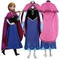 Princess Anna Costume Adult Anna Dress Cosplay Party Halloween Costume for Women Fancy Dress fantasia plus size custom printing