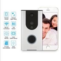 Wifi Video Doorbell Outdoor Battery Camera PIR Night Vision Wireless Door Intercom Built In 8G TF