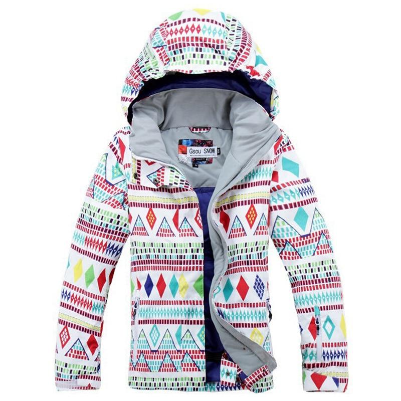 Prix pour 2016 nouvelle Femmes Hiver ski coupe-vent imperméable vestes de ski costume de maintien au chaud coupe-vent patin escalade veste vêtements de ski