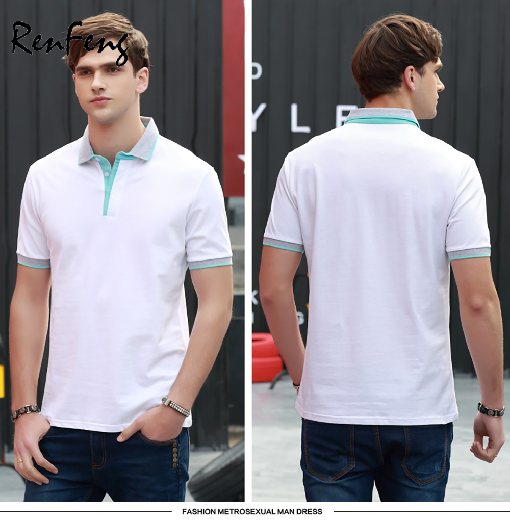 73dfc6ab 2019 Summer Style Cotton Man Polo Shirts T Blank White Short Sleeve Slim  Breathable Famous Brand Men's Polos Shirts Male Tops T