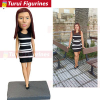 photo to figurines personalized bobblehead dolls head statue statuette from pictures custom bust statues home decor figurines