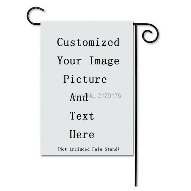 DIY Photo Custom Picture Decoration Garden Flags Double Side ...