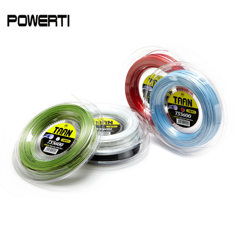 TAAN 5600 1.15mm one reel Tennis String Fusion Poly High Elasticity Durable Tennis Racket Training String 200m TS5600