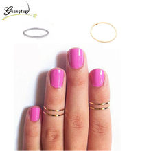 Simple Fine Jewelry Women Midi Finger Knuckle Ring Decorative Polished Brass Rings Joints Wedding & Engagement Jewelry(China)