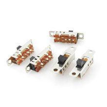 100 шт х 6 мм высокая ручка 8 Pin-код 3 позиции 2P3T DP3T Панель ползунковый Переключатель 0.5A с алюминиевой крышкой, 50В модель на постоянном токе SS23E04-G6