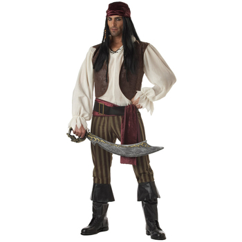 MOONIGHT Caribbean Pirate Costume Adult Men Grand Heritage Collection Deluxe Jack Sparrow luxury cosplay