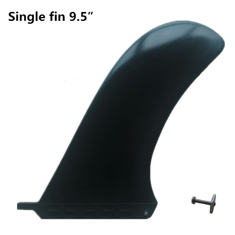"Longboard Fins 9.5 ""Længde High Quality Center Fins / Single Surfboard Fins 9,5 tommer Center Finder ny stil"
