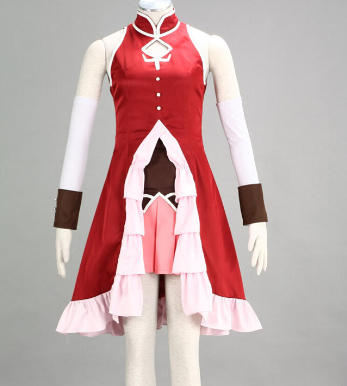 Anime magique fille Cosplay robe Sakura Kyouko rouge robe sans manches toute taille personnalisée pour Cosplay MR0188