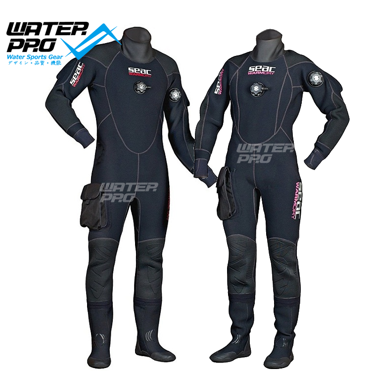 SEAC SUB Warm dry 4mm Hi-density Neoprene Dry Suit with Semi-rigid Boots seac sub гарпун seac нерж сталь для пневматического ружья asso 50