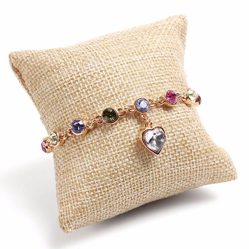1pcs Small Jewelry Pillow Cushion Bracelet Bangle Wrist Watch Jewelry Display Holder Showcase