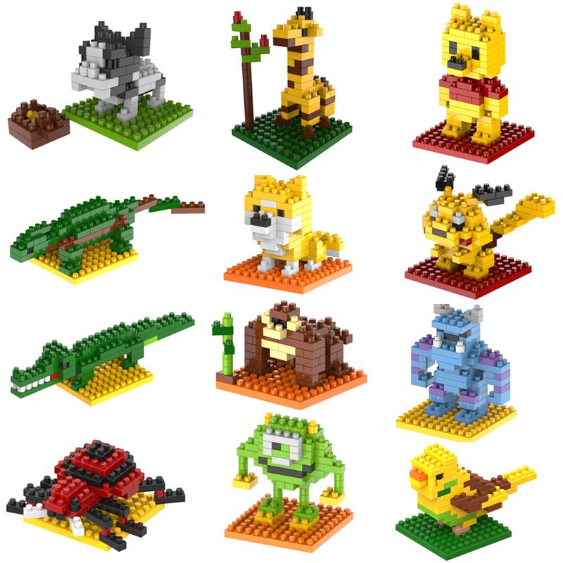 2015 New Gift smae as LOZ Building Blocks small animal Minion Mario Transformation Minifigures Cartoon Characters 3D Bricks Toys