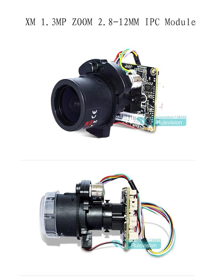 XM HD 1.3MP/720P IPC 2.8-12mm Motorized Zoom & Auto Focal LEN 1/3