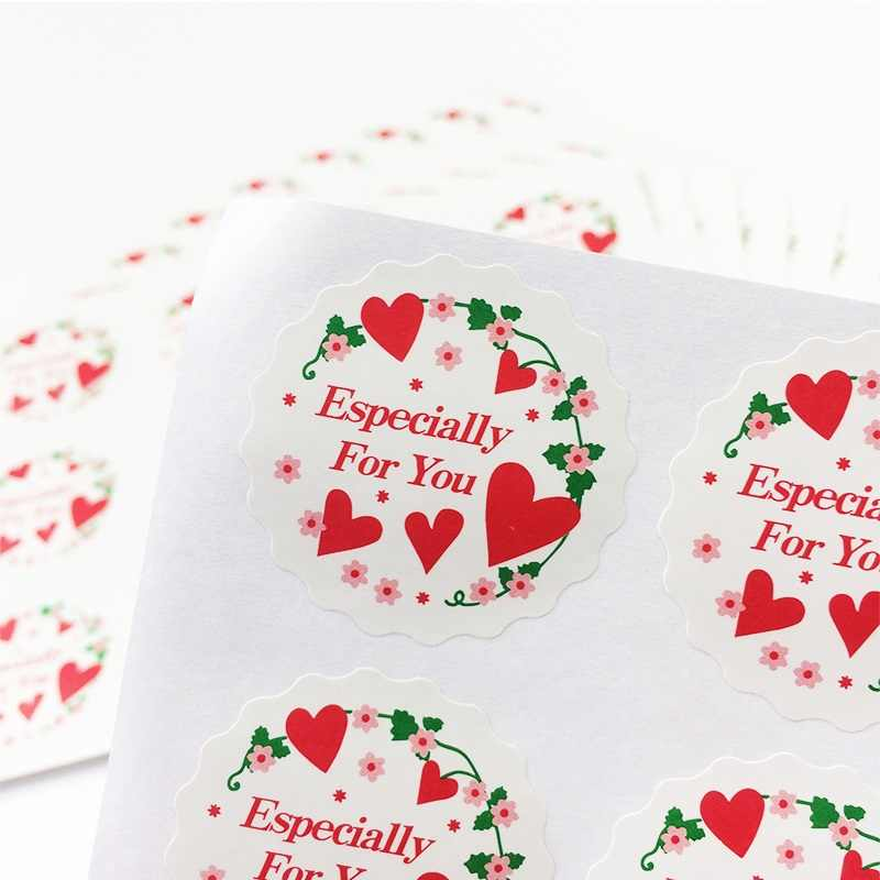 "120pcs/lot multifunction diy handmade products gift seal sticker""Especially For You"" series seal sticker package label"