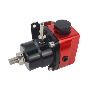 Image 2 - VR   Black&Red Universal fpr AN6 Fitting EFI fuel pressure regulator For 7MGTE MKIII with hose line.Fittings.Gauge VR7842BKRD