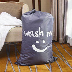 HOT SMILE wash me Laundry Basket Foldable Bath Hamper Dirty Clothes Drawstring Storage Bags  Bathroom Rack Clothes Organizer