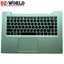 Caso de Prata superior Com Inglês DOS EUA Teclado Retroiluminado Backlight Teclado Touchpad Para Lenovo Ideapad U430 U430T U430P 90203245