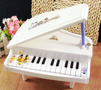 White Electronic Symphonic Mini Piano Infant Playing Type Educational Musical Instrument Toys Gift For Kids