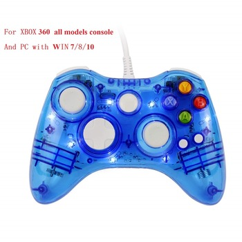 USB Wired XBOX 360 Gamepad Controller Joystick Official Microsoft PC Joypad For Windows 7 8 10 XBOX Slim Smart TV Gamepads