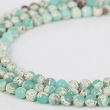 Singreal Snakeskin Beads Natural Aqua Terra Stone Green Color Oriental Factor Jewelry Findings for DIY Bracelets Holiday Gifts(China)