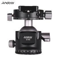Andoer D 40 Professional Double Panoramic Head CNC Machining Aluminum Alloy Ball Head for Tripod Monopod DSLR ILDC Cameras