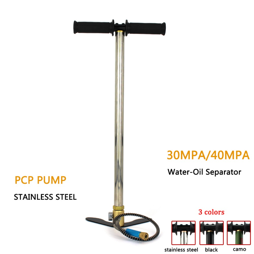 PCP Paintball Airforce THREE Stage High Pressure Air Pump Fixed Pedal 25mm Gauge 50cm Hose HPA Tank Air Refilling 30mpa 4500psi