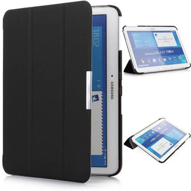 Sm-t530 t531 t535 tablet стоит case для samsung Tab 4 10.1 Ультратонких тонкий кожа смарт обложка case магнитный авто сна