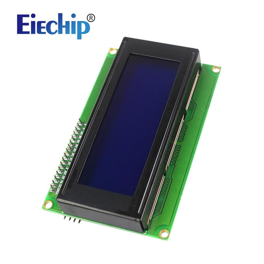 Бесплатная доставка Умная Электроника ЖК-дисплей Дисплей Мониторы ЖК-дисплей 2004 2004 20x4 5 В Характер синий Подсветка Экран и IIC I2C для Arduino