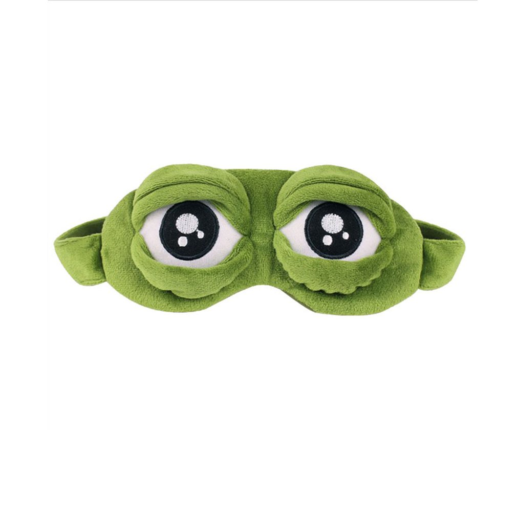 Sleep & Snoring Frogs Eyes Sleeping Eye Mask Elastic Bandage Eyeshade Cover Eyepatch Blindfolds For Flight Travel Office Night Sleep